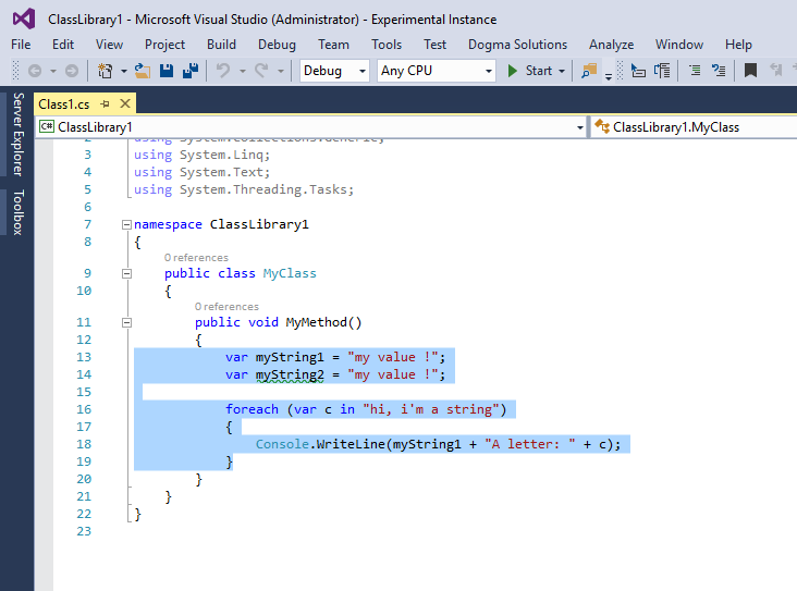 Strings To Constants - Visual Studio Marketplace